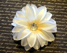 Beautiful Cream Colored Lily Flower Hair Clip by MissSweetCheekz, $6.00