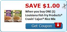 New Coupon!  Save $1.00 When you buy ONE (1) Louisiana Fish Fry Products® Cravin' Cajun® Rice Mix - http://www.stacyssavings.com/new-coupon-save-1-00-when-you-buy-one-1-louisiana-fish-fry-products-cravin-cajun-rice-mix-2/