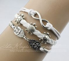 Infinity the owl the tortoise bracelet antique by themagicbracelet, $4.99