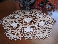 Hand crochet set of 2 vanity doilies new by DEMET on Etsy