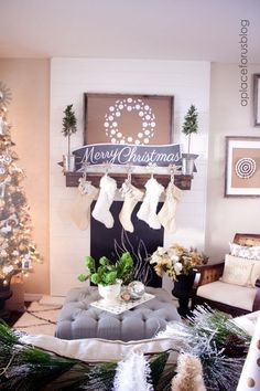 Stunning Holiday mantles.  Tons of beautiful photos with great decorating ideas to get you inspired this holiday season
