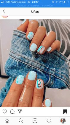 Simple Acrylic Nails, Summer Acrylic Nails, Best Acrylic Nails, Cute Gel Nails, Diy Nails, Pretty Nails, Shellac Nail Colors, Acylic Nails, Minimalist Nails