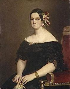 Maria Cristina di Borbone, Princess of the Two Sicilies - 1818  by  Franz Xaver Winterhalter