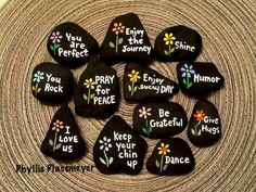 Painted Rocks with Inspirational Words