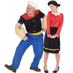 Popeye and Olive Oyl Couples Costume