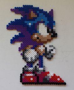 Week 5, Day 31, 8-Bit, Sonic the Hedgehog, Perler Beads 365 Day Challenge.