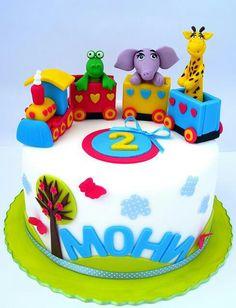 Animal cake train