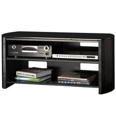 Alphason Designs FW1100BVB Finewoods Series Black TV Stand