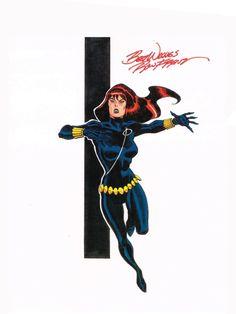 Black Widow By Ron Frenz