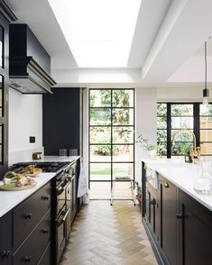 "12.5k Likes, 110 Comments - Amber Lewis (@amberinteriors) on Instagram: ""I am wearing black... but so is this kitchen. In my opinion, I think the Kitchen wears it best! I…"""