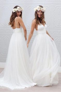 Wedding Dresses For Cheap Wedding Dresses Simple 2018 Wedding Dresses dresses hippie bridal Popular Wedding Dresses, Wedding Dresses 2018, White Wedding Dresses, Cheap Wedding Dress, Bridal Dresses, Tulle Wedding, V Neck Wedding Dress, Hippie Dresses, Hippie Wedding Dresses