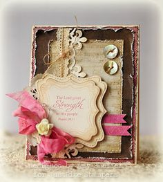 Love the buttons, the color, the layout! Pickled Paper Designs: stamps by JustRite Stampers