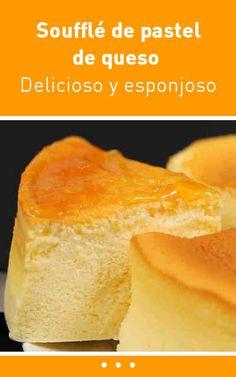 Soufflé de pastel de queso