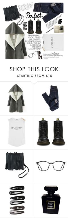 """""""Perfect"""" by amilla-top ❤ liked on Polyvore featuring mode, Dr. Denim, Balmain, GlassesUSA, Clips et Chanel"""