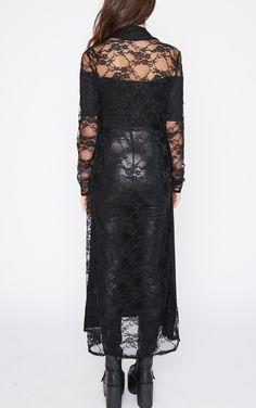 Roxie Black Long Length Kimono  thumbnail 1
