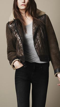 Burberry Sport Collection Quilted Bomber Jacket