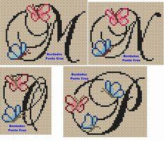 Risultati immagini per sol bordados em ponto cruz Cross Stitch Alphabet Patterns, Cross Stitch Letters, Cross Stitch For Kids, Cross Stitch Designs, Stitch Patterns, Name Embroidery, Embroidery Alphabet, Embroidery Stitches, Disney Stitch