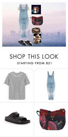 """""""Recreated look"""" by jazpreet on Polyvore featuring Paige Denim, Birkenstock, Desigual, women's clothing, women, female, woman, misses and juniors"""