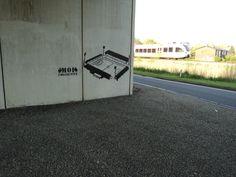 Het voegere stadion van FC Groningen (Oosterparkstadion) door Moi Collective (locatie viaduct bij kruising Laan 1940-1945 Friesestraatweg).
