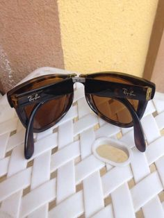 e87c8da6ec1  23.89--- Ray Ban RB4105 Folding Wayfarer Sunglasses Light Havana Frame Cr