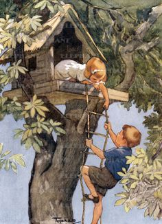 Tree house - it belonged to Curtis, who lived across the alley. Good memories!