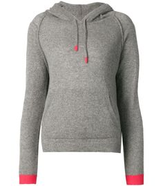 Chinti and Parker Gray Cashmere Hoodie