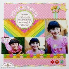 A Doodlebug Hello Sunshine Layout by Mendi Yoshikawa ~ Scrapbook Pages 3.