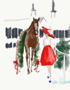 Kentucky Derby sketches by Lydia Marie Elizabeth Www.LydiaMarieElizabeth.com