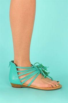 Grecian Aqua Sandals
