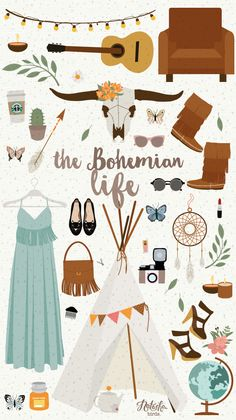 Illustration Boho. · Natacha Birds Portfolio Illustratrice Webdesigner