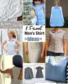 Chances are your boyfriend or husband has tons of business shirts he doesn't want anymore. Here are 15 Cool Men's Shirt Refashion Ideas that you sew.