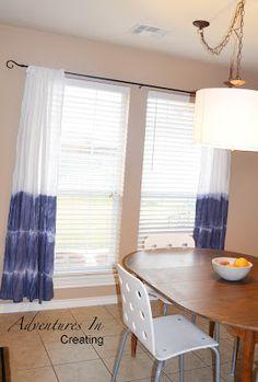 Adventures In Creating: Easy Breezy Dip Dye Curtains