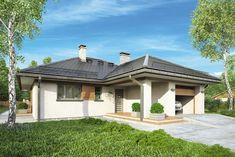 Projekt domu AT Winona CE - DOM - gotowy koszt budowy Atrium, Gatsby, House Plans, Outdoor Structures, House Design, Country, Studio, Home Decor, Tiny House