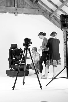 Our team working hard at the Graco photo shoot.
