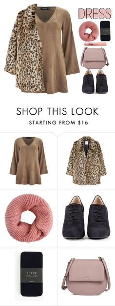 """""""Suede Dress"""" by stephlv ❤ liked on Polyvore featuring MINKPINK, MANGO, Unisa, J.Crew, Kate Spade and under100"""