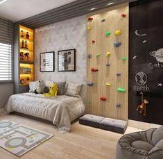 Papel de parede para quarto: 60 modelos ambientados para te inspirar Boys Room Decor, Room Decor Bedroom, Boy Room, Kids Bed Design, Kids Bedroom Designs, Cool Kids Bedrooms, Toddler Rooms, Kids Rooms, Room Interior