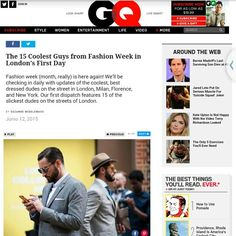 684c34c3f5d Featured in GQ for London collections men