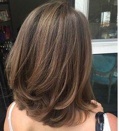 Best Haircut Shoulder Length Layers Ideas - Haircut Types Be Medium Hair Cuts, Long Hair Cuts, Medium Hair Styles, Curly Hair Styles, Medium Length Haircuts, Thin Hair, Thick Hair Long Bob, Layered Bob Thick Hair, Haircut For Medium Length Hair