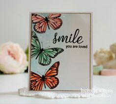 Butterfly Cards Handmade, 2017 Inspiration, Stamp Collecting, Cardmaking, Stampin Up, Encouragement, Place Card Holders, Create, Butterflies