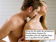 Wenn Sie Sex mehr als zweimal pro Woche haben, können Sie feststellen, dass die tägliche Dosis von 5 mg Ihnen besser gefällt.