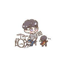 Exo Fan Art, Short Comics, Kpop Fanart, Cute Shorts, Chanyeol, Chen, Drawings, Artist, Anime