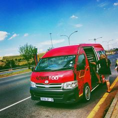 Loading up the van to take a #tour of #Soweto, #Johannesburg. Soweto was not at all what I expected it to be. CLICK http://www.chickabouttown.com/travel-south-africa-soweto-johannesburg/ to know exactly what I mean by that. #Tours #CitySightseeingJoburg #CitySightseeing #SouthAfrica