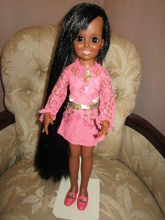 Vintage Original Crissy Doll AA African American Black Hair to Floor VGC