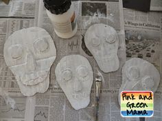 Recycled-Cardboard-Day-of-the-Dead-Art-Project-Craft-for-kids