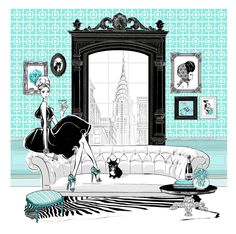 """""""the manhattan suite"""" by megan hess (This will be me someday, back in NYC. My old stomping grounds :)"""
