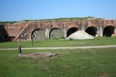 """Things to Do: Visit the historical Fort Morgan in Gulf Shores Alabama. Tour the old bunkers to witness a piece of history. Tip: You can literally walk on the """"Fort Wall"""" that starts on the beach side and wraps around the island to the bay side. It is a super cool activity that only a few know about!"""