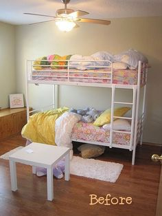 Before and After: From Plain To Posh Bunkbeds — Three Men and a Lady