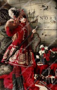 Cotten Sweet bronzing JSK pirate Style Infanta Lolita Dresses