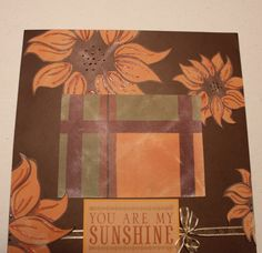 Fall Sunflower You Are My Sunshine Premade Photo by KindnessPaper, $6.00