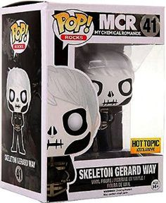 My Chemical Romance MCR Skeleton Gerard Way Pop! Ricks Vinyl Figure New in Box Hot Topic Exclusive